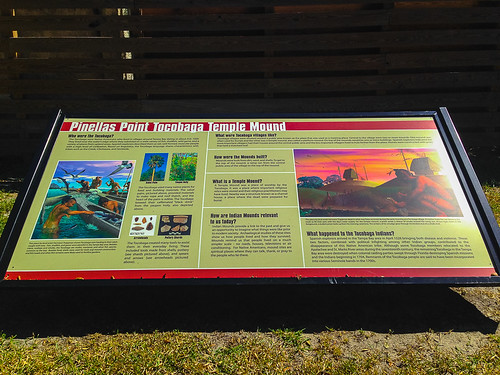 Main infomration board for Pinellas Point Tocobaga Temple Mound