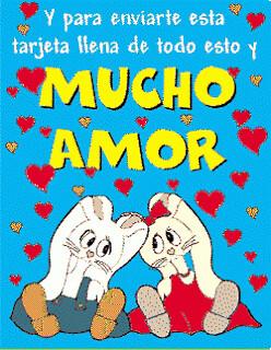 Imagenes De Amor Imagen De Conejitos Con Frase De Amor A Photo On
