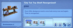 Tiny Tot Toy Shelf Reorganized