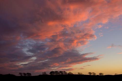 sunset sky storm clouds skies