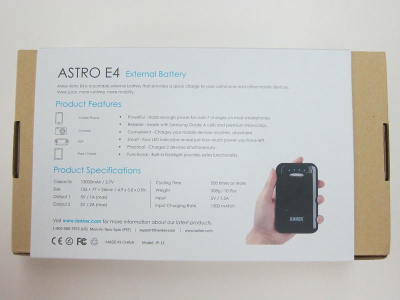 Anker Astro E4 - Box Back
