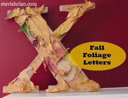 fall foliage letters