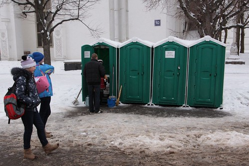 25 roubles to piss in a portable toilet