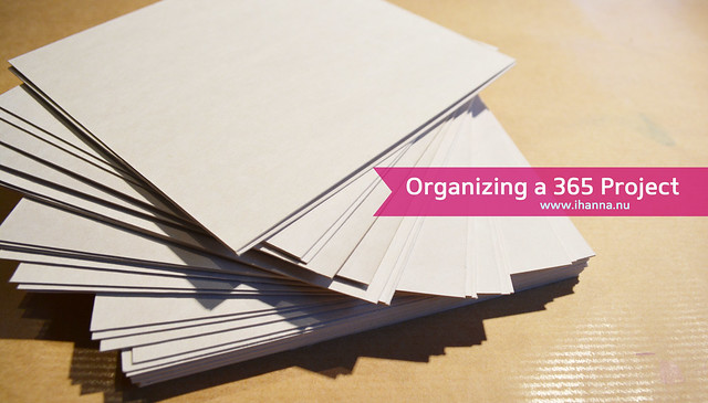 Staying organized during a year of a 365 Project