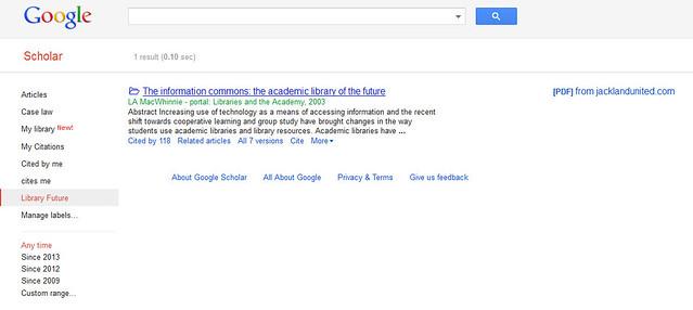 Library Future - Google Scholar - Mozilla Firefox 20112013 21352 PM