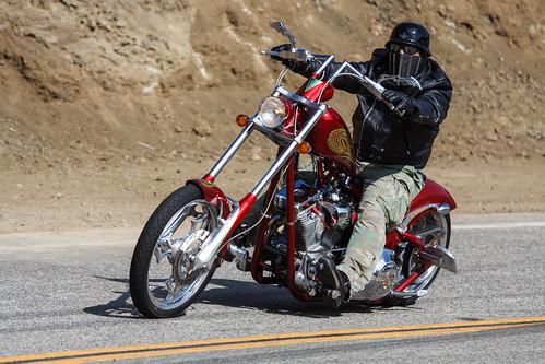 Custom Motorcycle on Mulholland
