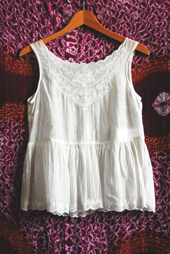 top en voile de coton blanc kookai
