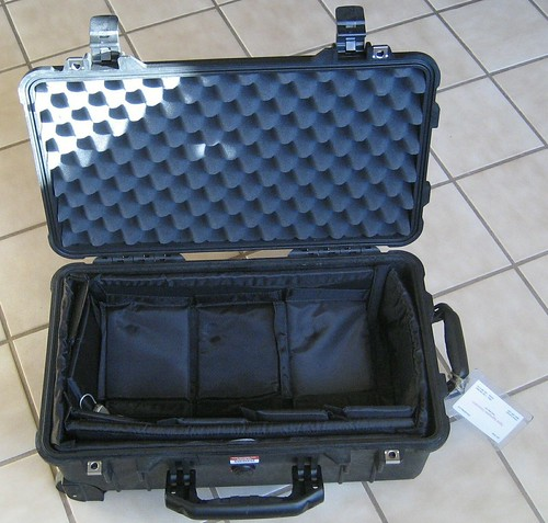 Pelican 1510 Carry-On Rolling Bag (Open)