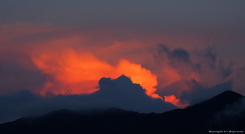 sunset cloud mountain atardecer montaña nube blinkagain