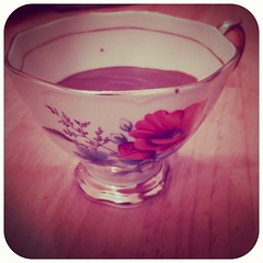 Another #pretty #vintage #teacup. But this time used for homemade hot chocolate.