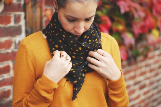 foulard monoprix