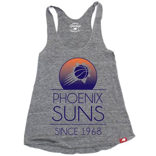 Phoenix Suns Sportiqe Women's Comfy Malibu Tank - Grey