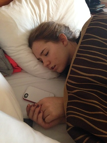 Robyn Smith sleeping (Katie Woo Photo Jan 31, 2014)
