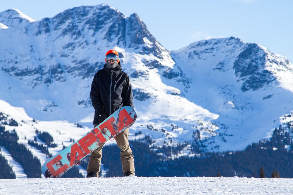 scottish snowboarder in whistler blackcomb