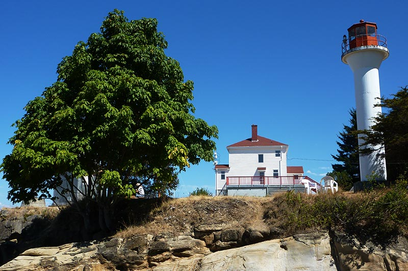 ... British · Georgina Point Lighthouse On Mayne Island In Gulf Islands  National Park, Southern Gulf Islands, ...