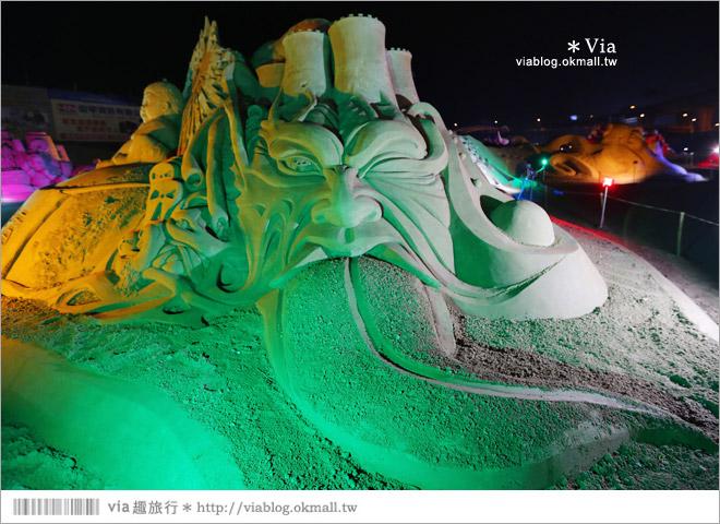 【2014台灣燈會在南投】南投沙雕燈會~夜間點燈好浪漫!還有精彩光雕秀11