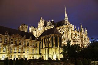 Catedral de Reims y Palacio de Tau.