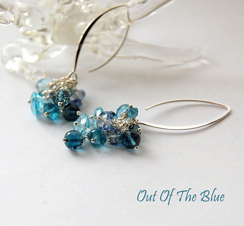 Out Of The Blue Earrings by gemwaithnia