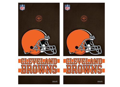 Cleveland Browns Cornhole Game Decal Set