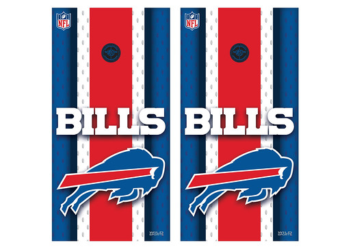 Buffalo Bills Cornhole Game Decal Set