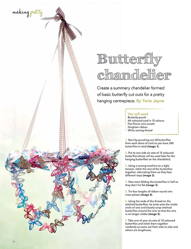 Butterfly Chandelier as seen in Making Magazine