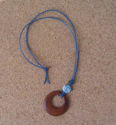 Pendant with Wood and Incised Jade by randubnick