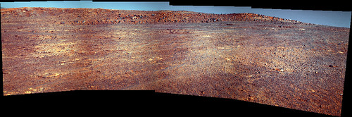 Opportunity Panoramic Camera  L 2 5 7  Sol 3596 - Cape Upright