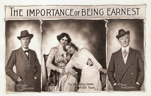 George Alexander, Mrs. Patrick Campbell, Rosalie Toller and Allan Aynesworth in The Importance of Being Earnest