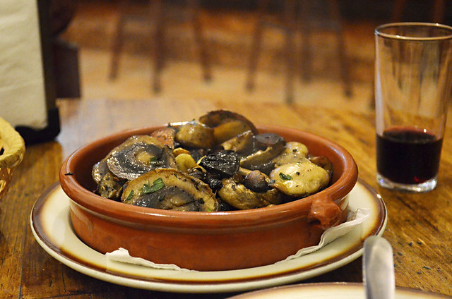 Garlic mushrooms, Bar Noria,Antigua, Fuerteventura