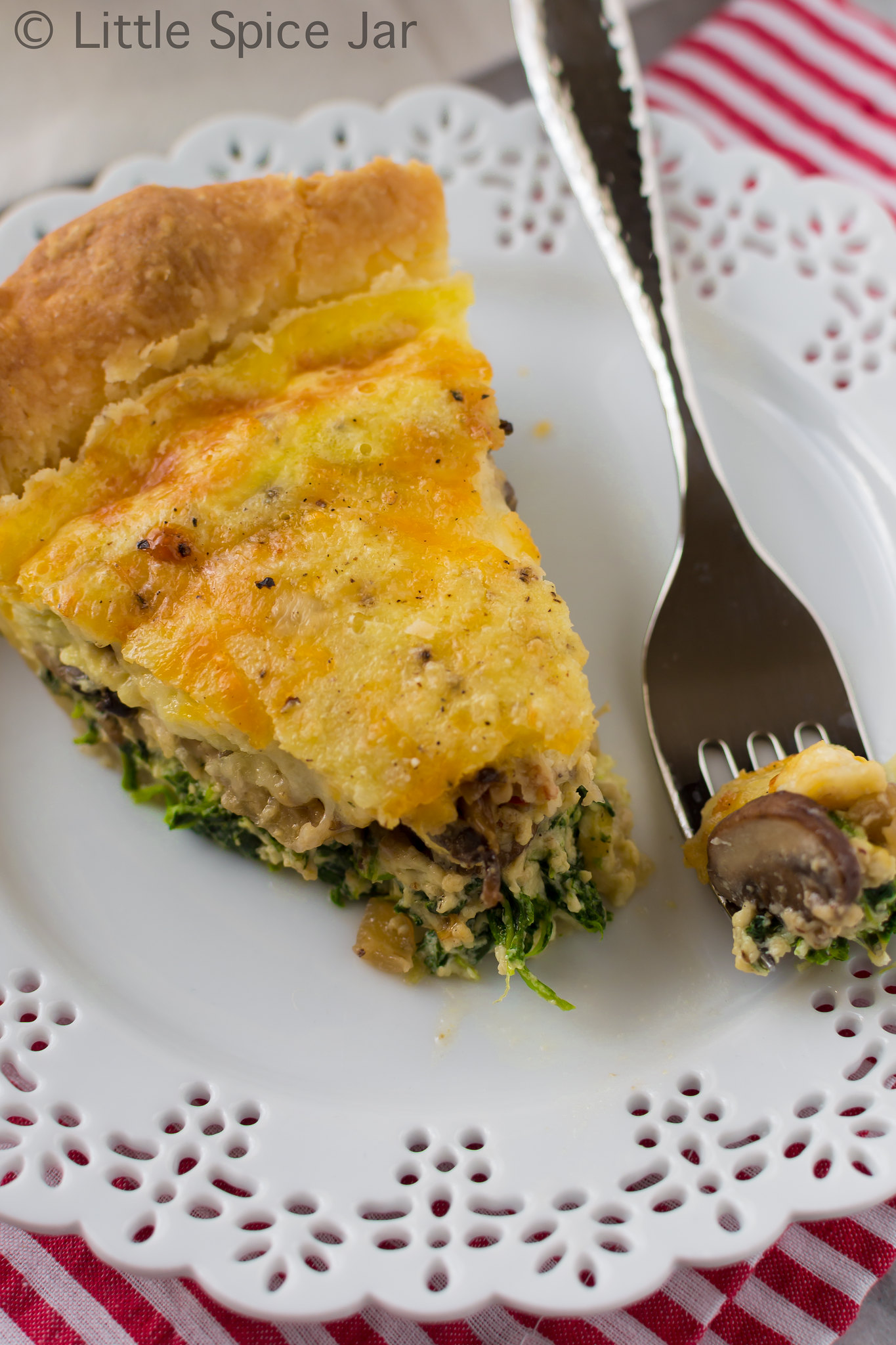 Cheesy Spinach Mushroom Quiche Final 6