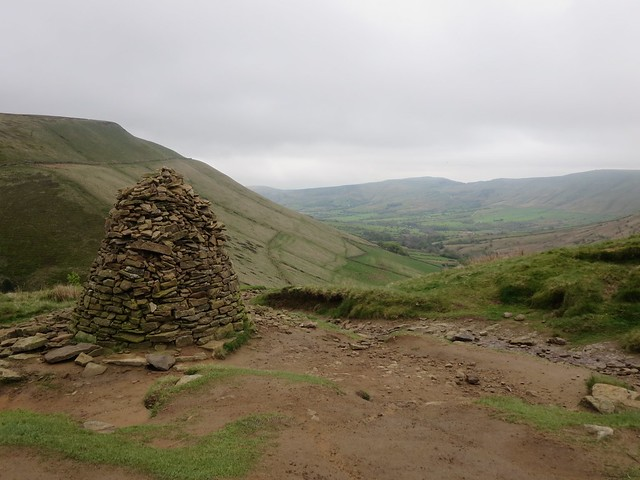 Cairn at the top of Jacob's Ladder, Kinder Scout, Peak District