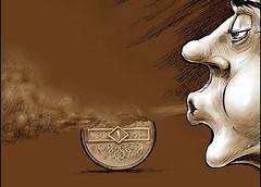 الليرة السورية تسقط أمام الدولار ويسقط معها المواطنون في العوز ...