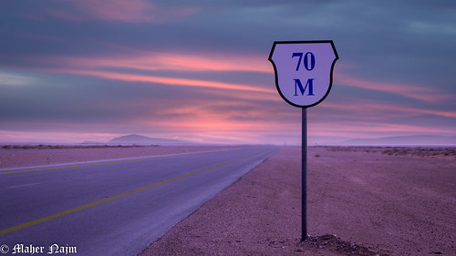 road trip travel sunset sky sign landscape sony alpha saudiarabia ksa easternprovince a6000 laea4 topgeotagged2015