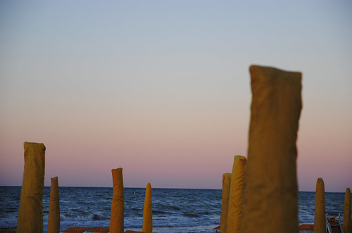 Riccione and the sunset