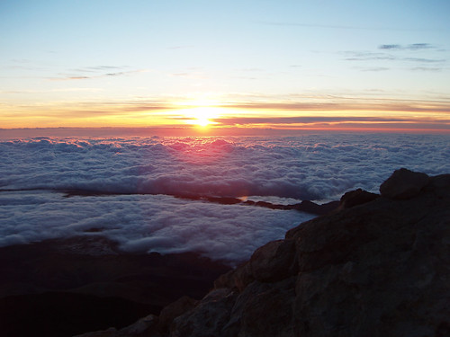 Sunrise from Mount Teide, Teide National Park, Tenerife