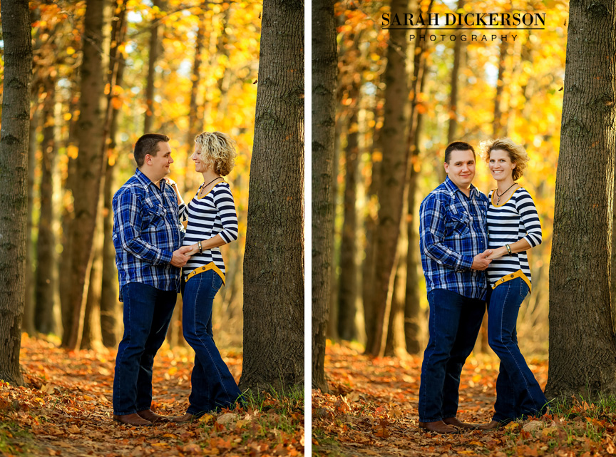 Kansas City fall engagement session