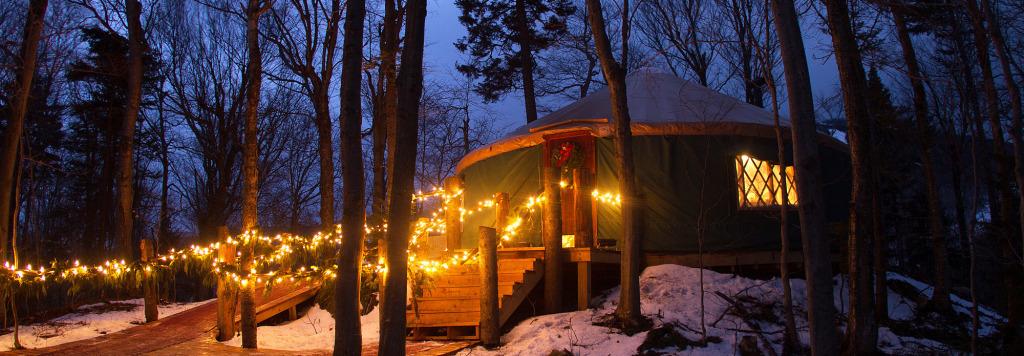 Yurt at killington