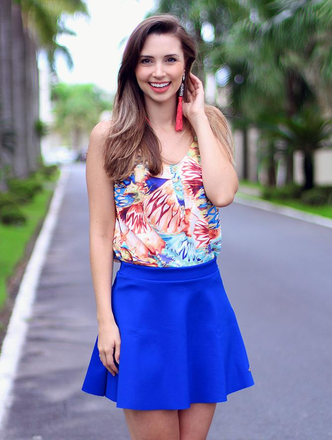 1-look com saia azul bic lamandinne blog sempre glamour