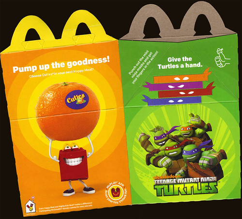 "McDonald's Happy Meal :: ""TEENAGE MUTANT NINJA TURTLES & Sweethearts""  box ii  (( 2015 ))"