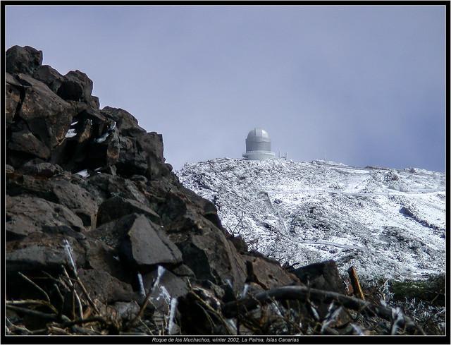 Roque de los Muchachos, winter 2002, La Palma, Islas Canarias