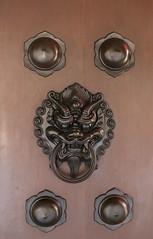 door knocker, iron,