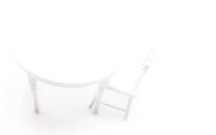 Weißer Stuhl