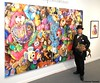 Dr. Takeshi Yamada and Seara (Coney Island Sea Rabboit) visited the Art NY at the Pier 94 in Manhattan, NY on May 3, 2016.  20160503Tue DSCN5508=4030pC. artwork by Brent Estabrook