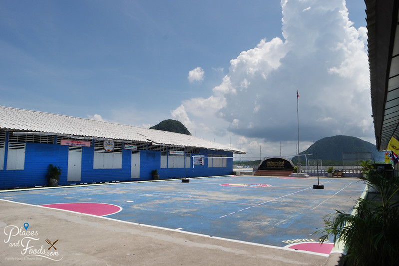 koh panyee real football field in school full view