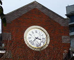 Sutton, Surrey, Greater London, clock, Sutton Park Road