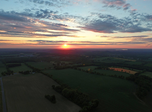 sunset summer nature rural landscape colorful farm country farming aerial cny fields upstatenewyork summertime phantom aerialphotography countrylife dji iamdji djiphantom4