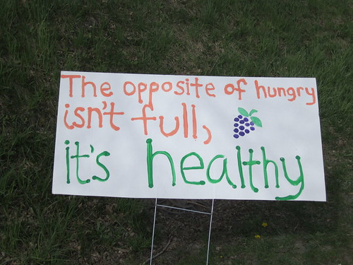 The opposite of hungry isn't full, it's healthy