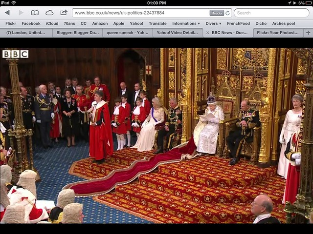 From BBC And iPad Scene From The Queen's Speech
