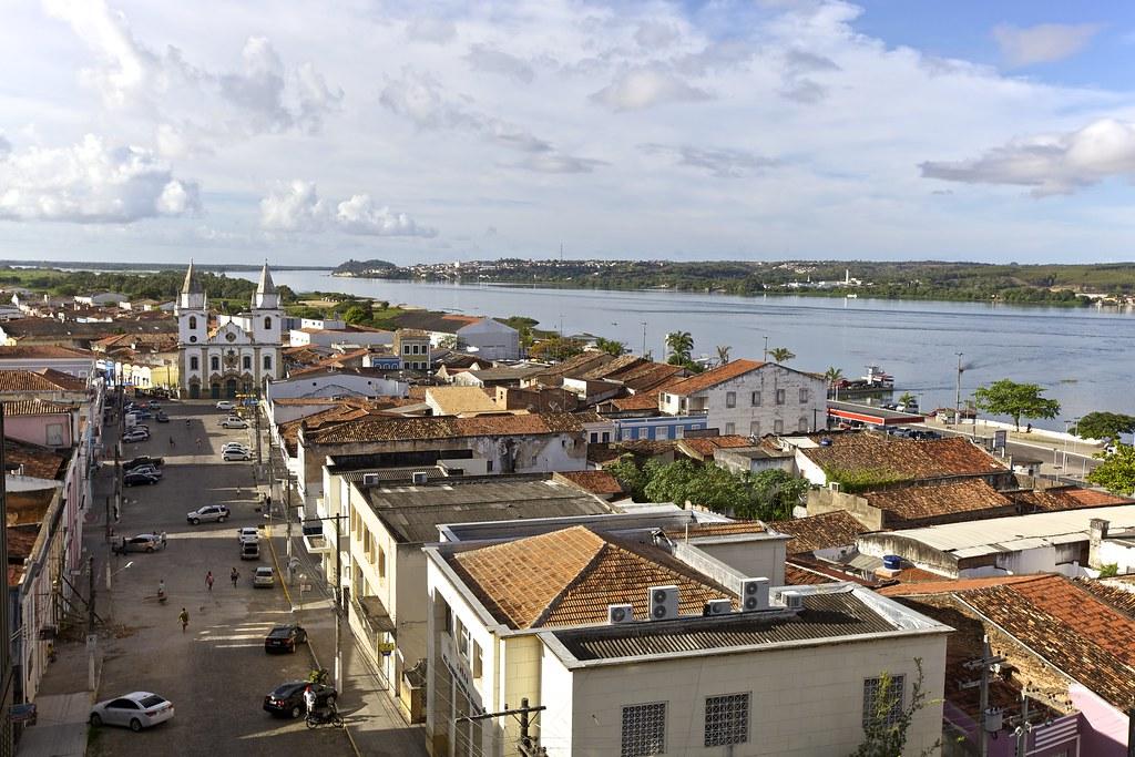 Vista Aérea do Centro Histórico de Penedo, Alagoas