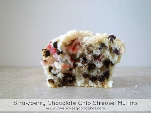 Strawberry Chocolate Chip Streusel Muffins 2